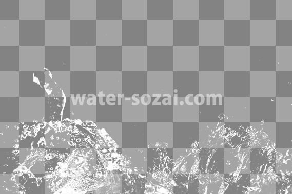 水がはね飛ぶ、切り抜き透過画像