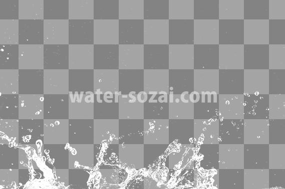 水が弾け飛ぶ、切り抜き透過画像