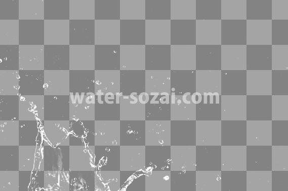 水が跳ね上がる、切り抜き透過画像