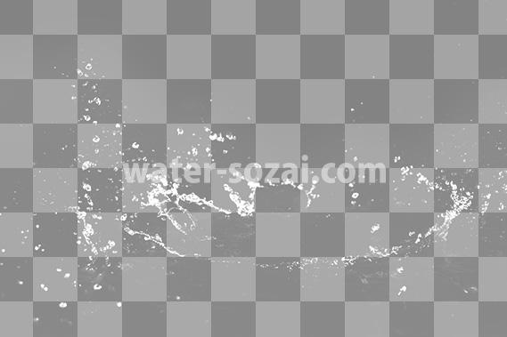 水が輪っかに飛び散る、切り抜き透過画像