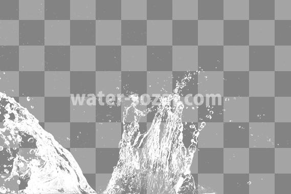 水飛沫があがる、切り抜き透過画像
