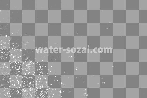 水玉が散布する、切り抜き透過画像