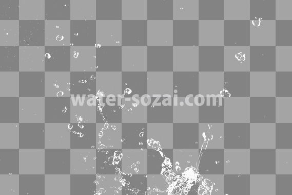 水が弾ける、切り抜き透過画像