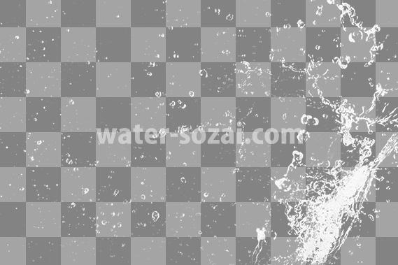 水が躍動する、切り抜き透過画像