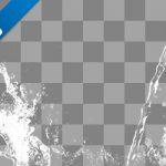 水が散布する、切り抜き透過画像