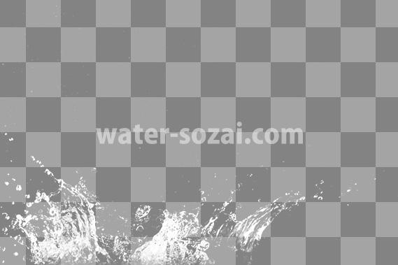 水が飛び散る、切り抜き透過画像