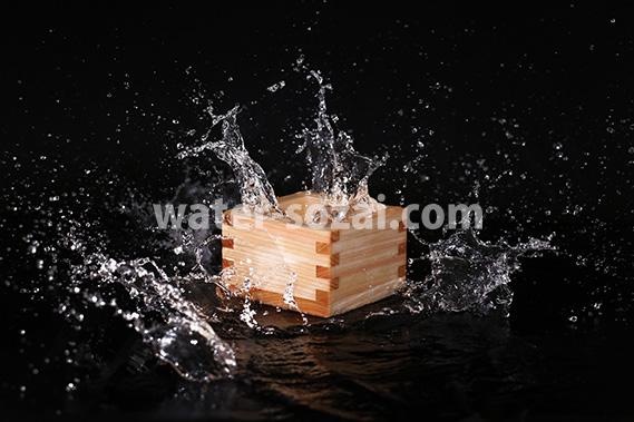 升と水しぶきの写真・フォト素材