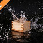 升と水が飛び散る写真・フォト素材
