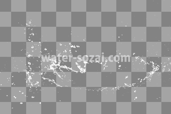 水しぶきの切り抜き透過画像
