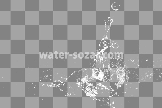 水が跳ね返る切り抜き透過画像