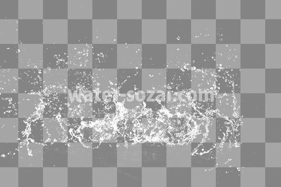 水が激しく跳ね返る切り抜き透過画像
