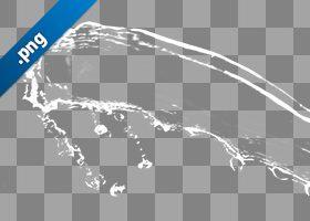 水が流れ飛ぶ、切り抜き透過画像